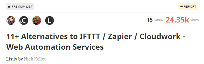 11 Alternatives to IFTTT Zapier Cloudwork Web Automation Services A Listly List