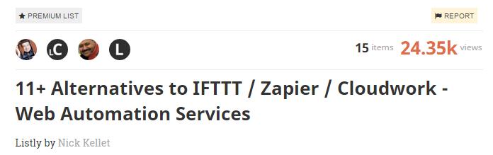 11 Alternatives to IFTTT Zapier Cloudwork Web Automation Services A Listly List