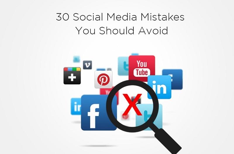 30 social media mistakes